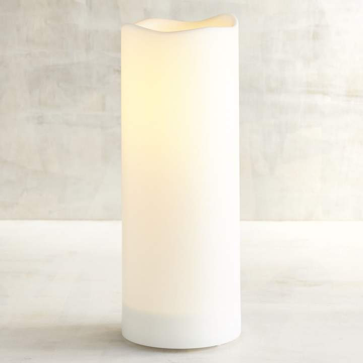 Deco Wick 3x8 Outdoor LED Pillar Candle