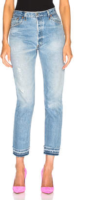 RE/DONE LEVI'S Released Hem High Rise Ankle in Indigo | FWRD