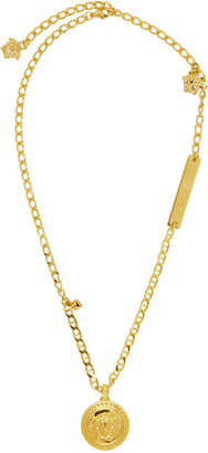 Versace Gold Pendant Necklace