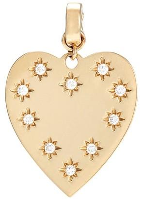 Loquet London 'Heart' diamond 14k yellow gold bracelet charm - Small