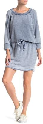 Allen Allen 3\u002F4 Sleeve Boatneck Knit Dress