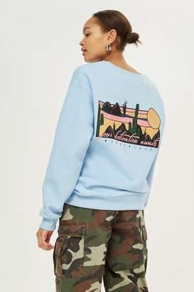 Topshop 'Wanderlust' Slogan Sweatshirt