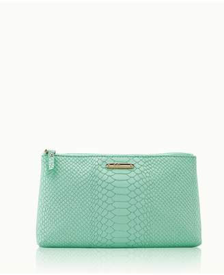 GiGi New York Large Cosmetic Case In Aegean Embossed Python
