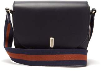 A.P.C. Ava Leather Saddle Bag - Womens - Dark Blue