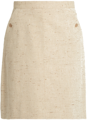 A.P.C. Workwear cotton-blend skirt $203 thestylecure.com