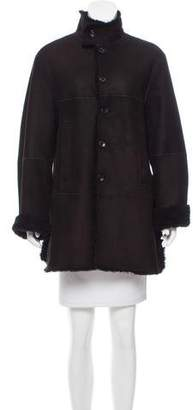 Joseph Shearling-Trimmed Suede Jacket w/ Tags