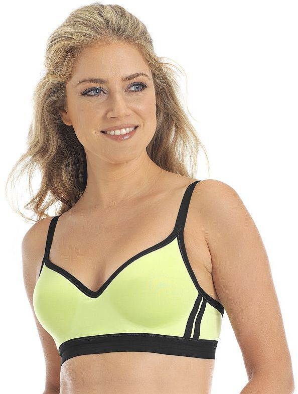Lily of France striped performance sports bra - 2151350
