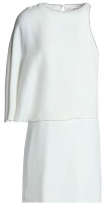 Halston Asymmetric Layered Crepe Mini Dress