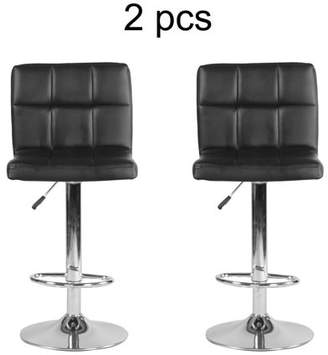 Everybest Ergonomic Height Adjustable 360 Degree Swivel Backrest Barstools Chair Comfortable Home Kitchen Stool With Footrest