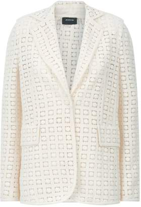 Akris Seven Wool Guipure Jacket