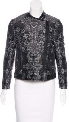 Helmut Lang Jacquard Zip-Up Jacket