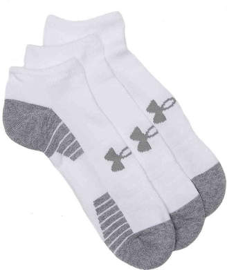 Under Armour HeatGear Tech No Show Socks - 3 Pack - Men's