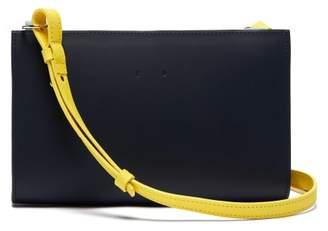 Pb 0110 Ab 60 Leather Cross Body Bag - Womens - Navy Multi