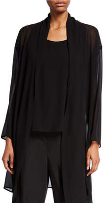 Eileen Fisher Sheer Silk Georgette Kimono Jacket
