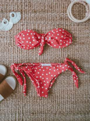 Goodnight Macaroon 'Violet' Tied Polka Dot Bikini (2 Colors)