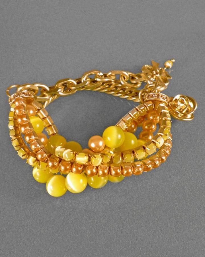 Jessica Simpson Bracelet, Yellow Bead