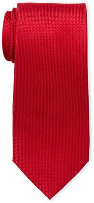 MICHAEL Michael Kors Red Textured Silk Tie