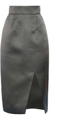 Miu Miu High-Rise Satin Slit Skirt Size: 36