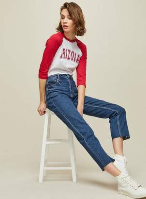 Miss Selfridge Straight girlfriend dark blue jeans