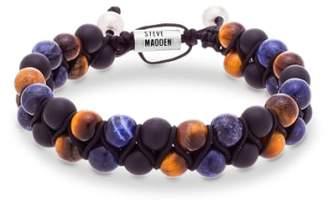 Steve Madden Tiger's Eye & Lapis Bracelet
