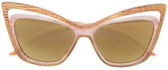 Christian Roth Eyewear double cat eye frame sunglasses
