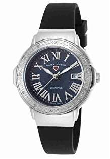 Swiss Legend Women's 20032DSM-01 South Beach Analog Display Swiss Quartz Black Watch