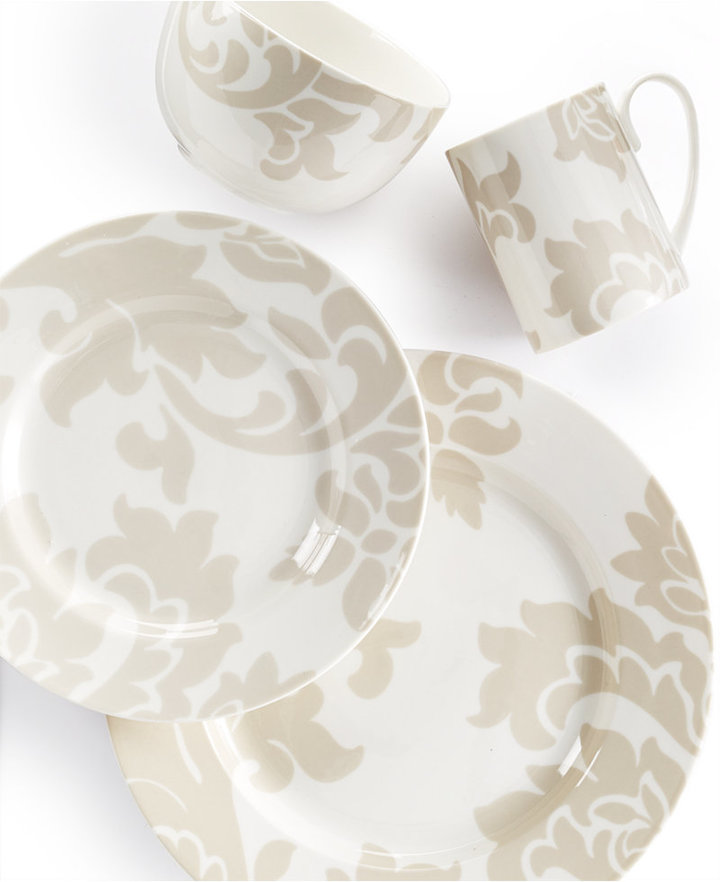 Martha Stewart Collection Lisbon Gray 4-Piece Place Setting