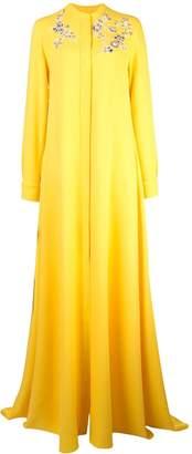 Carolina Herrera floral embellished shirt dress
