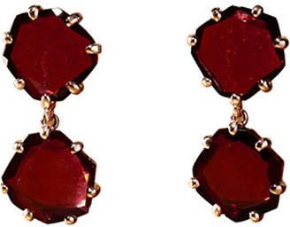 Rosegold Annoushka Shard 18ct rose-gold and rhodolite garnet drop earrings