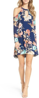 Women's Charles Henry Cold Shoulder Dress $98 thestylecure.com