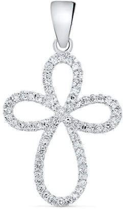 Cosanuova Diamond Cross Pendant In 14k White Gold