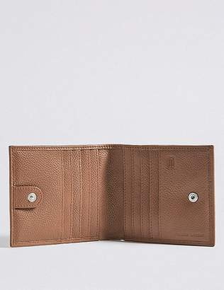 Marks and Spencer Leather Slim Popper Bi Fold Wallet with CardsafeTM