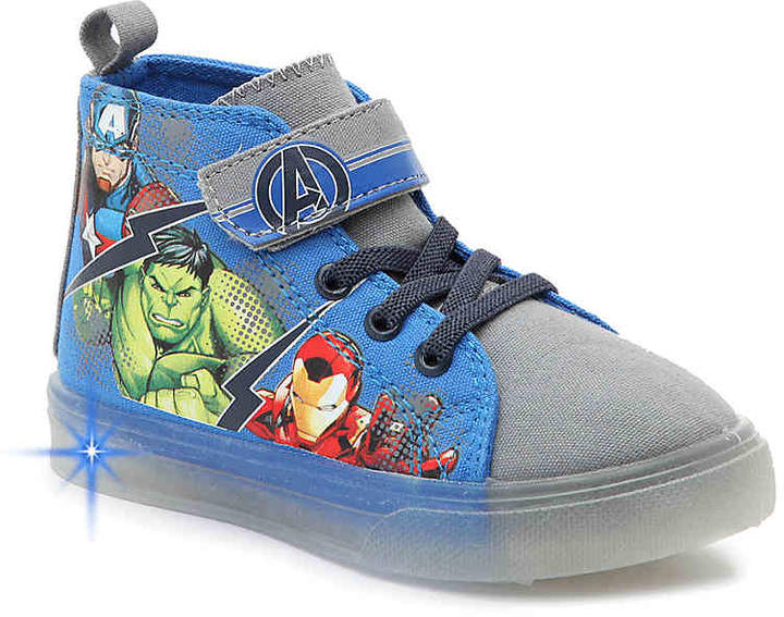 Marvel Avengers Toddler & Youth Light-Up High-Top Sneaker - Boy's
