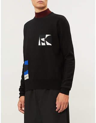 Oamc Motif-embroidered wool-blend jumper