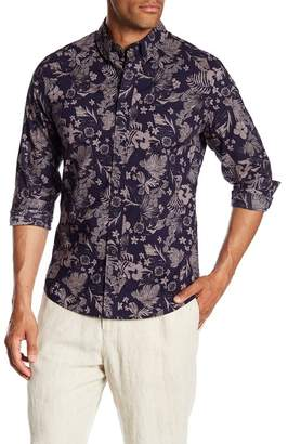 Slate & Stone Modern Fit Floral Print Long Sleeve Button Shirt