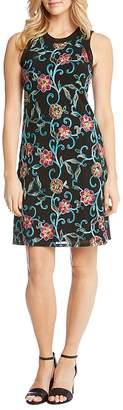 Karen Kane Embroidered Mesh Tank Dress