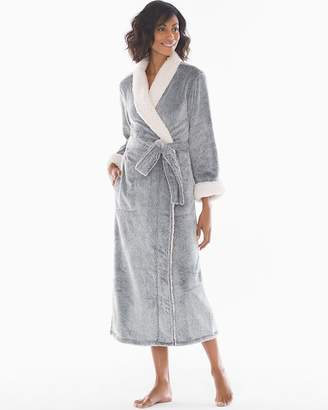 Natori Sherpa Long Robe Black