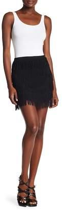 Show Me Your Mumu Moss Fringe Mini Skirt