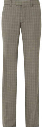 Balenciaga Le Monsieur Checked Wool And Mohair-blend Straight-leg Pants - Gray
