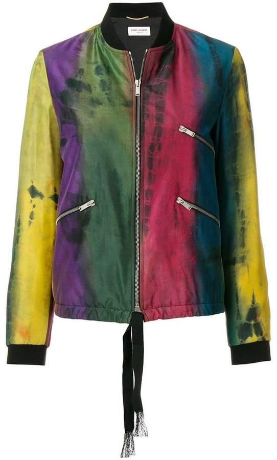 tie-dye varsity jacket
