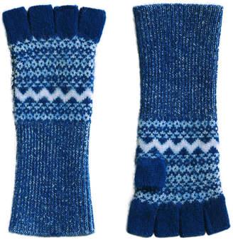 Burberry cashmere Fair Isle fingerless gloves