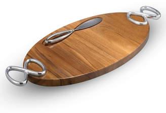 Nambe Infinity Cheese Board & Knife Set