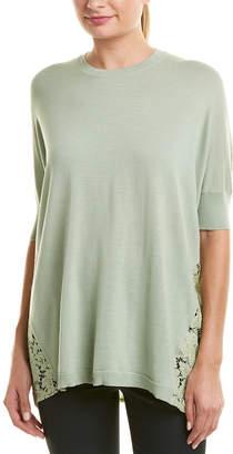 Valentino Lace-Paneled Wool Top