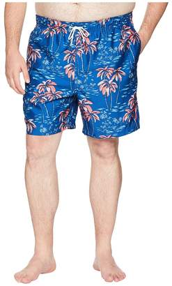 Nautica Big Tall Palm Tree Print Trunk Men's Swimwear