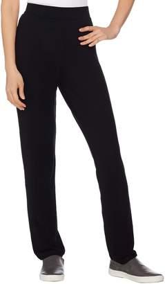 Lisa Rinna Collection Pull-On Straight Leg Knit Pants