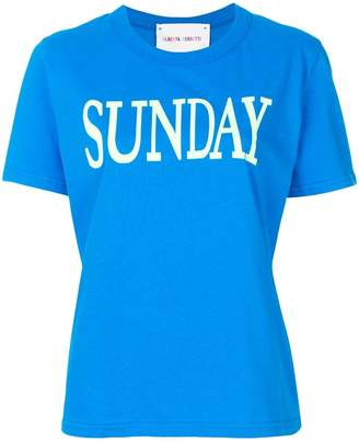 Alberta Ferretti Sunday print T-shirt