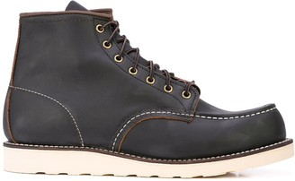 Red Wing Shoes contrast stitching combat boots