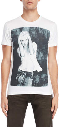 Armani Jeans White Graphic Regular Fit Tee