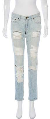 Rag & Bone The Dre Distressed Mid-Rise Jeans