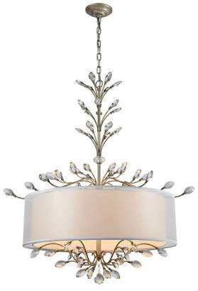 ELK Lighting Asbury 6-Light LED Chandelier with Aged Silver